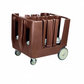Tellerwagen Abräumwagen für 160 Teller PE braun | Lager & Transport/Servier- & Transportwagen/Wagen für Gläserracks & Spülkorbwagen