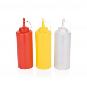 Dosage / flacon presseur, 0,45 litre, rouge