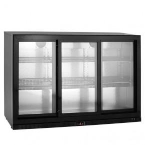 Barkühlschrank ECO 320 Liter mit Schiebetüren schwarz   Kühltechnik/Kühlschränke/Barkühlschränke