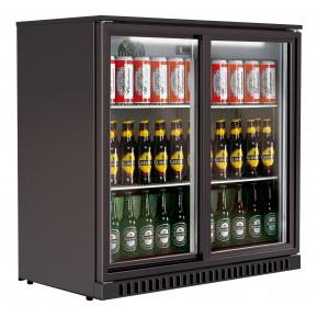 Barkühlschrank ECO 208 Liter mit Schiebetüren schwarz | Kühltechnik/Kühlschränke/Barkühlschränke