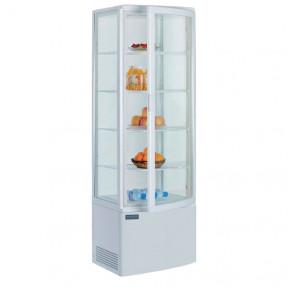 Kühlvitrine Polar 235L weiß - mit gebogener Glastür | Kühltechnik/Kühlvitrinen/Tischkühlvitrinen