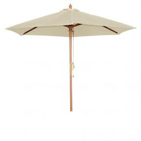 Parasol Bolero rond, crème, 3mètres
