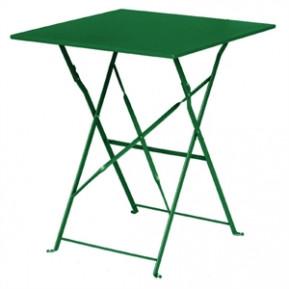 Table en acier Bolero, carrée, vert foncé, pliante