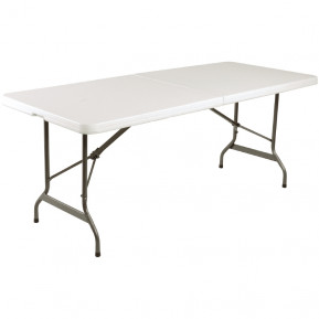 Table pliable au centre Bolero blanche 2430mm