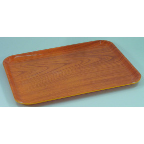 Plateau en stratifié aspect bois, 36 cm x 28 cm