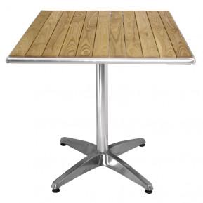 Table de café Bolero 600mm carrée avec plateau en bois de frêne