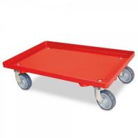 Transportroller geschlossene Deckfläche rot | Lager & Transport/Servier- & Transportwagen/Transportroller