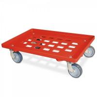 Transportroller vergitterte Deckfläche rot | Lager & Transport/Servier- & Transportwagen/Transportroller