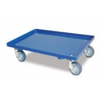 Transportroller geschlossene Deckfläche blau | Lager & Transport/Servier- & Transportwagen/Transportroller