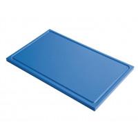 Schneidebrett mit Saftrille Gastro-M GN1/2 blau