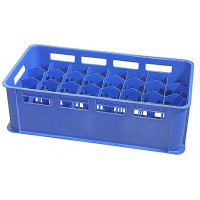Gläserkasten 32 Fächer, blau, für 0,3 - 0,4 L Gläser | Lager & Transport/Lagerausstattung/Lager- & Transportbehälter