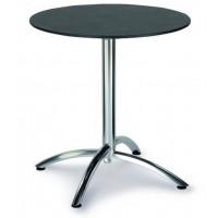 Table pliante Firenze 70cm Ø ronde argent/ardesia