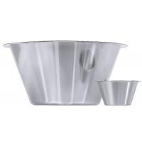Récipient pour cuisine 18/10, poli satiné, diamètre du rebord : 15 cm, volume : 1 l
