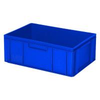 Euro-Stapelbehälter 600x400 mm, 2 Griffleisten, blau - 220 mm | Lager & Transport/Lagerausstattung/Lager- & Transportbehälter