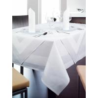 Linge de table Madeire rond, 100% coton, sans bordure satinée, 210cm