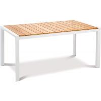 Table Paros 160 x 90cm blanc/teck