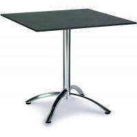 Table pliante Firenze 80x80cm carrée argent/ardesia