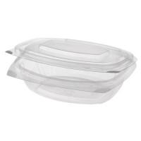 Barquette pour épicerie fine et salade Papstar Pure avec couvercle rabattable – M; en PLA – 50pièces – 500ml