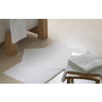 Badematte Zwirnfrottier, 100% Baumwolle, 50x70cm, weiß, 700Gr./m2