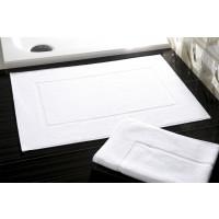 Tapis de bain en éponge retors, 100% coton, 50x70cm, blanc, 600g/m2