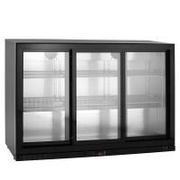 Barkühlschrank ECO 320 Liter mit Schiebetüren schwarz | Kühltechnik/Kühlschränke/Barkühlschränke