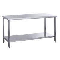 Table de travail Basic 20x7 en inox avec étagère inférieure