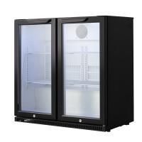 Barkühlschrank ECO 208 Liter mit Klapptüren schwarz | Kühltechnik/Kühlschränke/Barkühlschränke