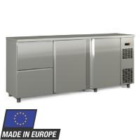 Barkühltisch PROFI 2/2 Edelstahl