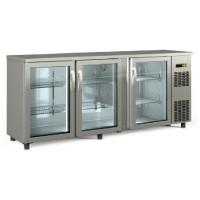 Barkühltisch PROFI 3/0 - mit Glastüren - Edelstahl | Kühltechnik/Kühltische/Barkühltische