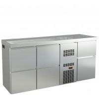 Biertheke Profi 0/4 mit zwei Spülbecken rechts   Kühltechnik/Biertheken