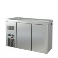 Biertheke Profi 2/0 mit Spülbecken links | Kühltechnik/Biertheken