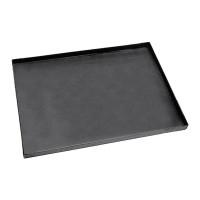 Plaque à pizza rectangulaire en tôle bleue LxlxH 40x30x3cm