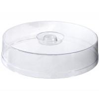 Cloche à tarte plate, transparente, 30cm