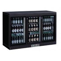Réfrigérateur bar Polar 335 litres avec 3 portes coulissantes noir