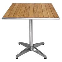 Table de café Bolero 700mm carrée avec plateau en bois de frêne
