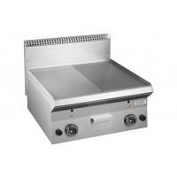 Gasgrillplate Dexio Serie 65 - 60/65 - 1/2 glatt, 1/2 gerillt - Tischgerät | Kochtechnik/Grillplatten/Gas-Grillplatten