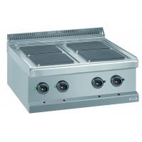 Elektroherd Dexion Serie 77 - 70/70 quadratische Kochfelder - Tischgerät