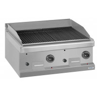 Grill à pierre de lave à gaz Dexion série 77 - 80/70 - à poser