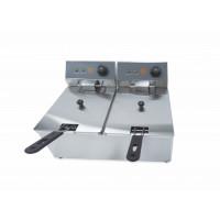 Elektro-Doppel-Fritteuse ECO 6+6 Liter | Kochtechnik/Fritteusen/Elektro-Fritteusen