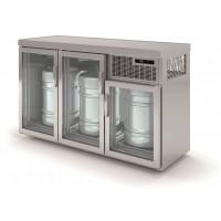 Fasskühler Premium 3 x 50 Liter mit Glastüren