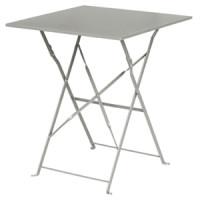 Table en acier Bolero, carrée, grise, pliante