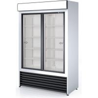 Getränkekühlschrank Profi 1000 weiß mit Leuchtaufsatz und Schiebetüren | Kühltechnik/Kühlschränke/Getränkekühlschränke
