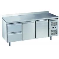 Kühltisch ECO 2/2 mit Aufkantung - GN 1/1 | Kühltechnik/Kühltische/Gastro-Kühltische/Gastro-Kühltische 700