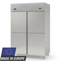 Réfrigérateur inox Profi 1400 GN 2/1 - 2groupes frigorifiques et 4demi-portes