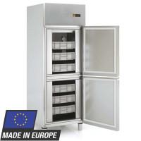 Armoire réfrigérée à poissons Profi 700 EN 600 x 400 - avec 2 demi-portes