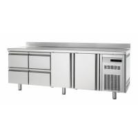 Bäckereikühltisch Premium 2/4 mit Aufkantung