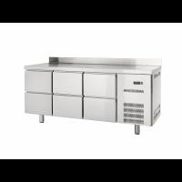 Table réfrigérée Profi 600 0/6 avec dosseret