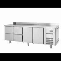 Table réfrigérée Profi 600 2/4 avec dosseret