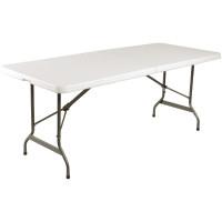 Table pliable au centre Bolero blanche 1829mm
