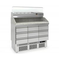 Pizzatisch PROFI 0/9 Mini mit Kühlaufsatz - Plus | Kühltechnik/Kühltische/Pizza-Kühltische